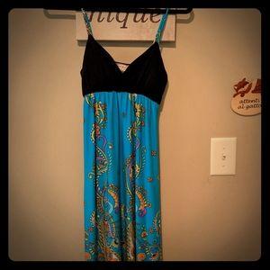 Turquoise Paisley summer dress